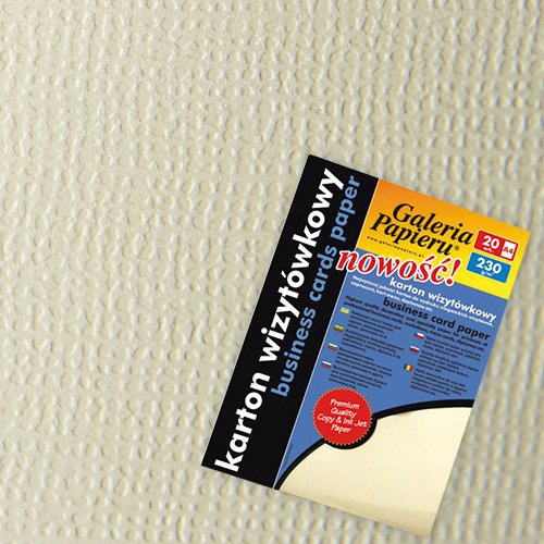 Karton Ozdobny Standard 230 G Len Kremowy 20ark Galeria Papieru